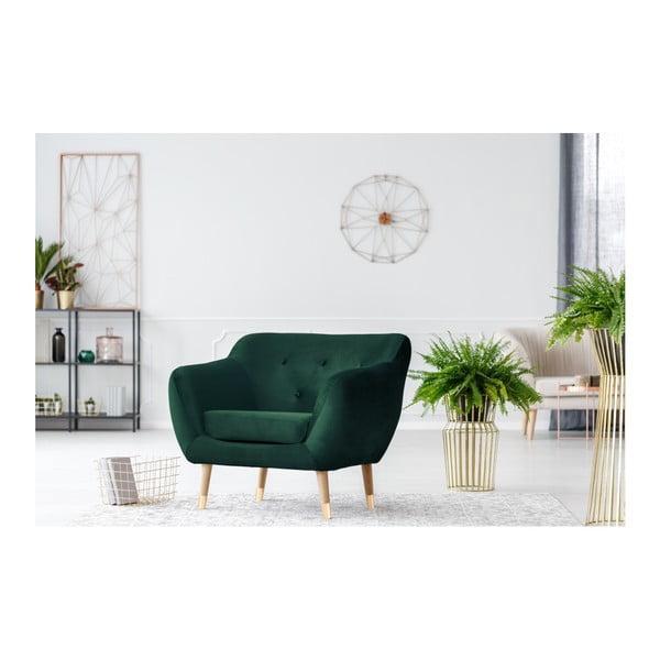 Amelie sötétzöld fotel - Mazzini Sofas