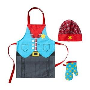 Cowboy kötény, sapka és edényfogó kesztyű készlet gyerekeknek - Ladelle