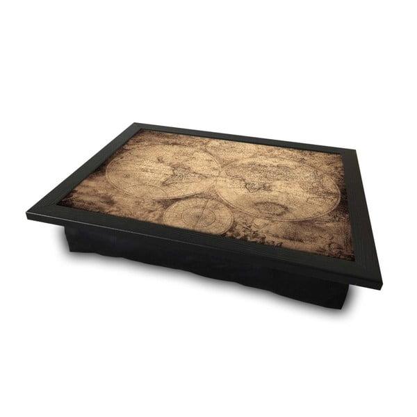 World Map tálalótálca párnával az alsó oldalon, 36 x 46 cm