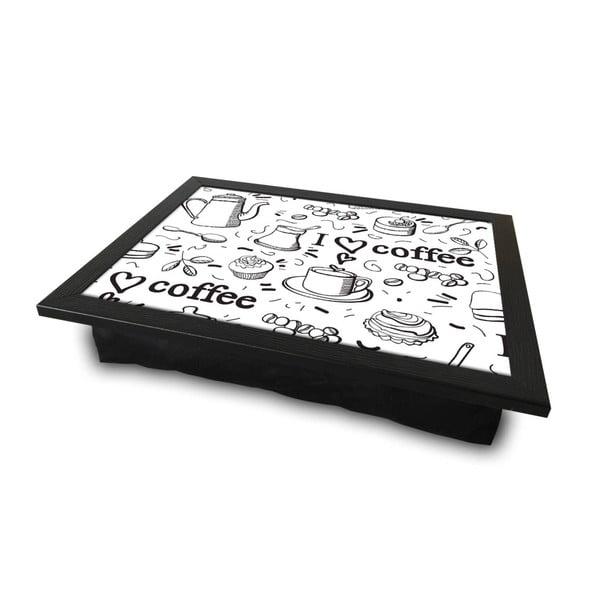 Coffe tálalótálca párnával az alsó oldalon, 36 x 46 cm