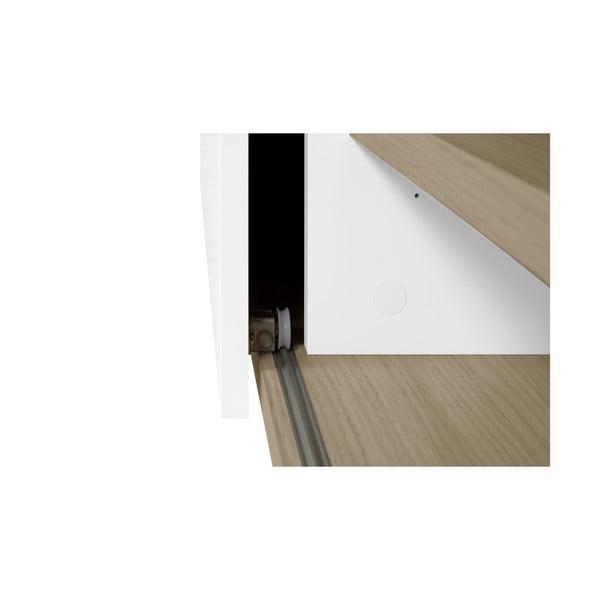 Nina fehér komód polcokkal és ajtóval, 140 x 59 cm - TemaHome