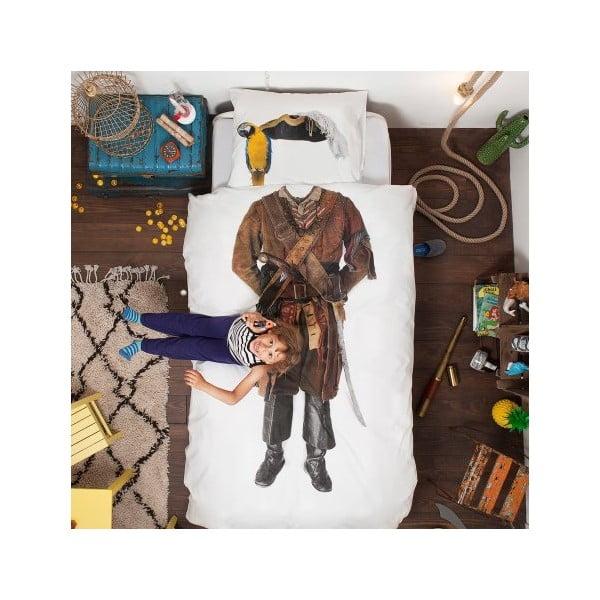 Pirate egyszemélyes pamut ágyneműhuzat, 140 x 200 cm - Snurk