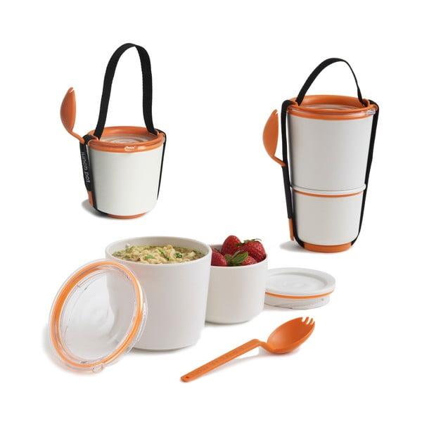 Lunch Pot narancssárga ételhordó dobozok - Black + Blum