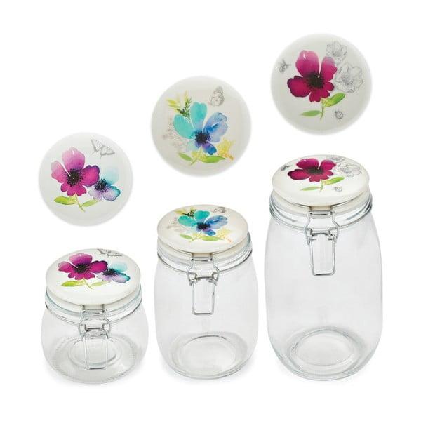 Chatsworth Floral üvegedény agyagkerámia fedővel, 1 l - Cooksmart ®