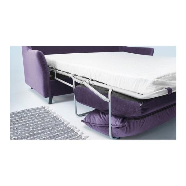Loft lila háromszemélyes kinyitható kanapé - Bobochic Paris
