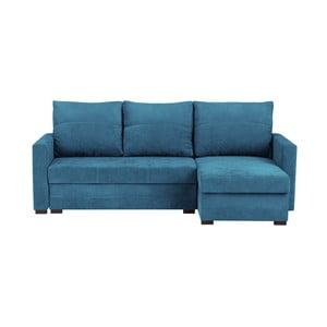 Modrá třímístná variabilní rohová rozkládací pohovka s úložným prostorem Melart Andy