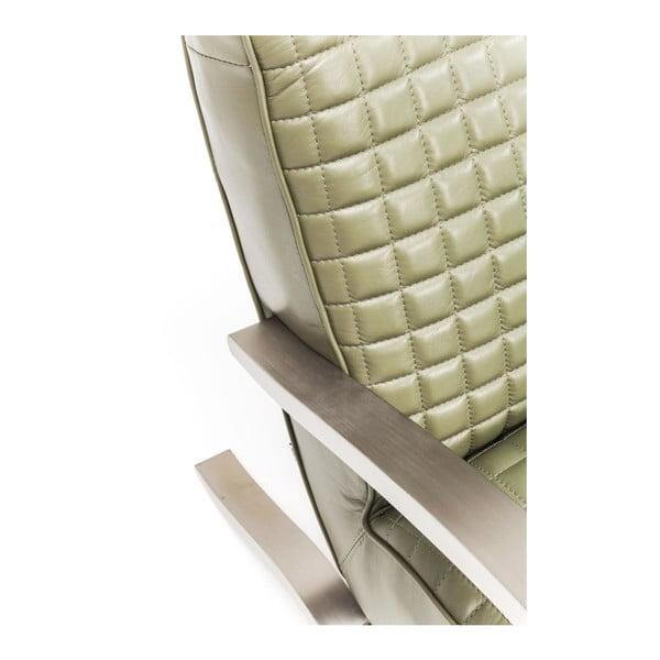 Cobra olivazöld bőrfotel - Kare Design