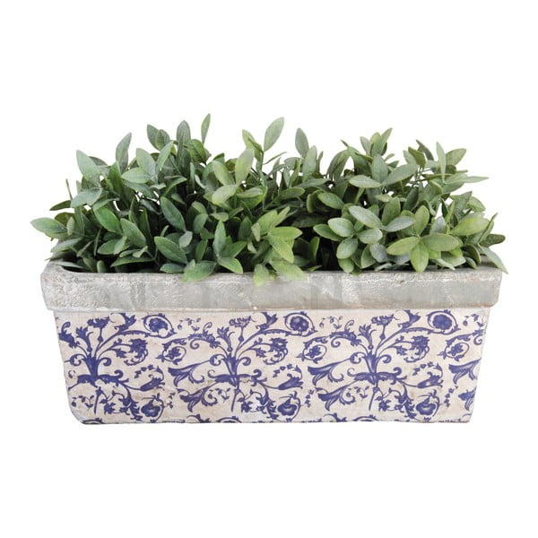 Kék-fehér kerámia virágcserép - Esschert Design