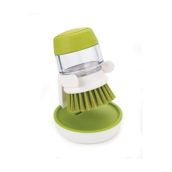 Palm Scrub zöld mosogatókefe, adagolóval és állvánnyal - Joseph Joseph