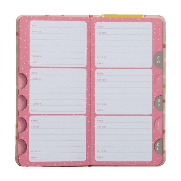 Slim Adress Book címregiszter füzet - Busy B