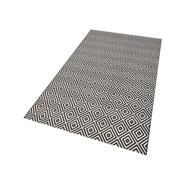 Karo fekete-fehér kültéri szőnyeg, 200 x 290 cm - Bougari