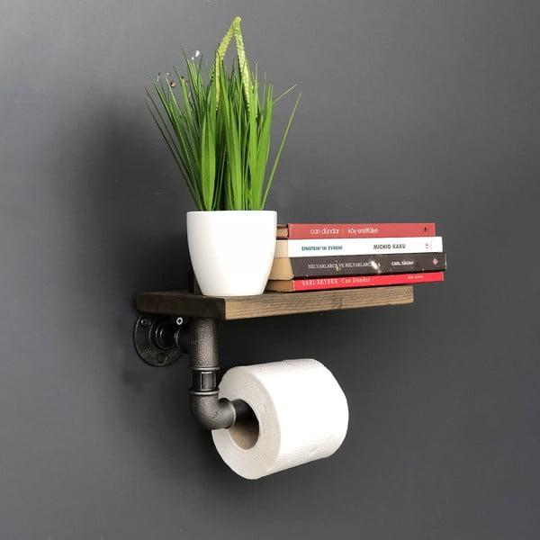Pipe fürdőszobai falipolc, WC-papír tartóval - Confetti Bathmats