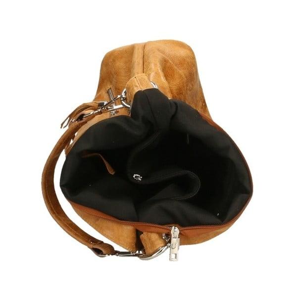 Pendella barna bőr kézitáska - Chicca Borse