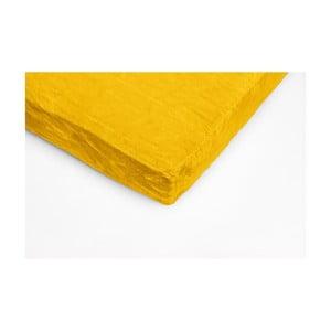 Sárga egyszemélyes mikroplüss lepedő, 90 x 200 cm - My House