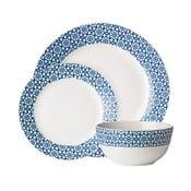 Casablanca Blue 12 darabos tányérkészlet - Premier Housewares
