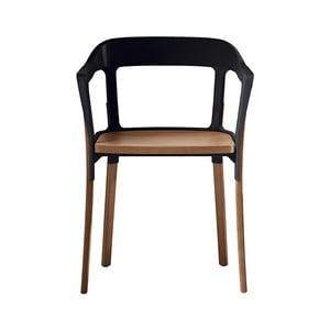 Steelwood fekete szék tömör bükk lábakkal - Magis