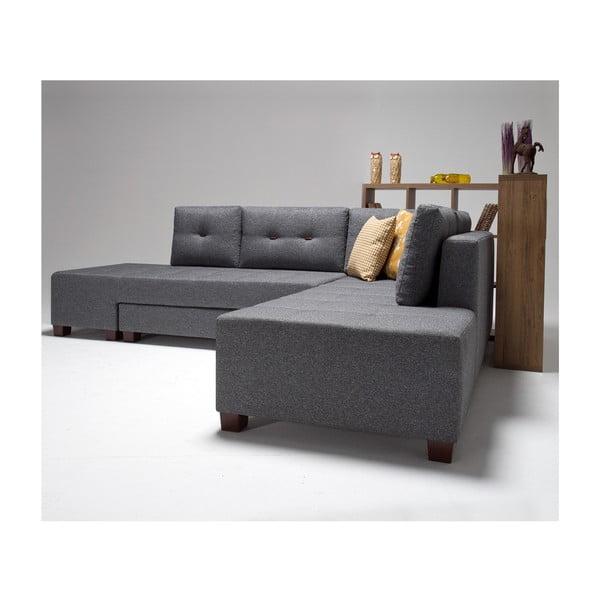 Home Bailey szürke kinyitható kanapé, jobb sarok - Balcab