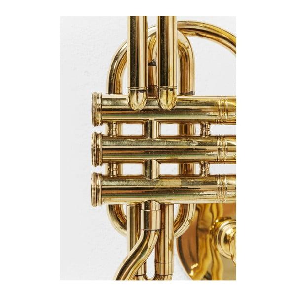 Trumpet Jazz aranyszínű fali akasztó kabátoknak - Kare Design