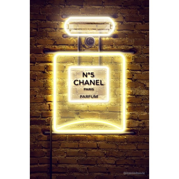 Neon Perfume poszter, 30 x 40 cm - Blue-Shaker