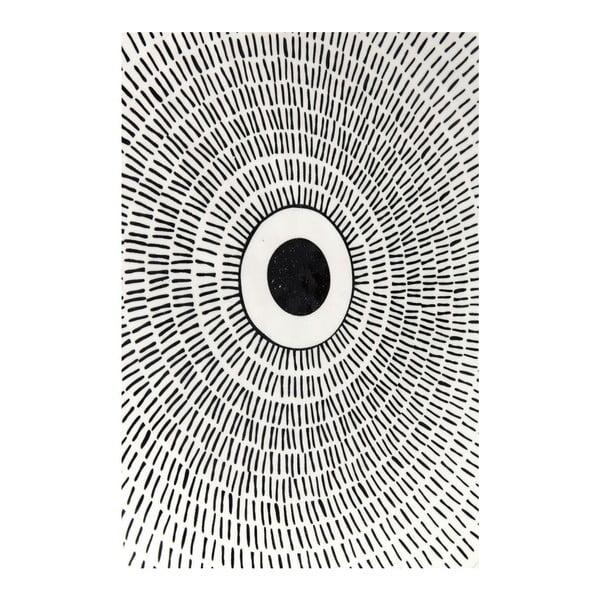 Capetown fekete-fehér tálca, ⌀ 26 cm - Kare Design