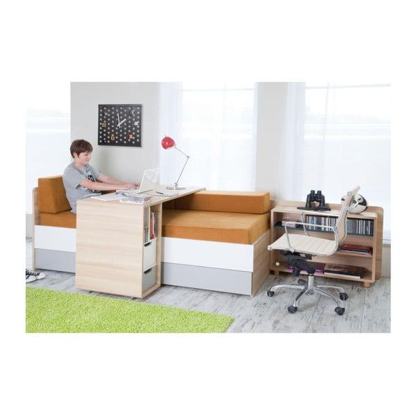 Evolve íróasztal két fehér-szürke fiókkal - Vox