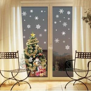Christmas White Flakes 30 db-os karácsonyi falmatrica készlet - Ambiance