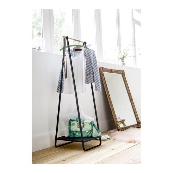 Portant Blanc fekete ruhaállvány polccal - Compactor