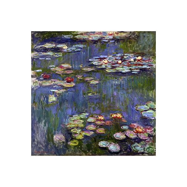 Claude Monet- Water Lilies 3 kép másolat, 70 x 70 cm