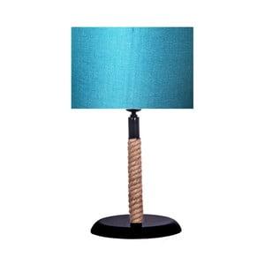 Rope asztali lámpa türkiz lámpabúrával - Kate Louise