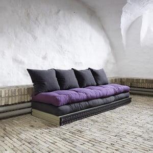 Chico Gray/Purple állítható kanapé - Karup