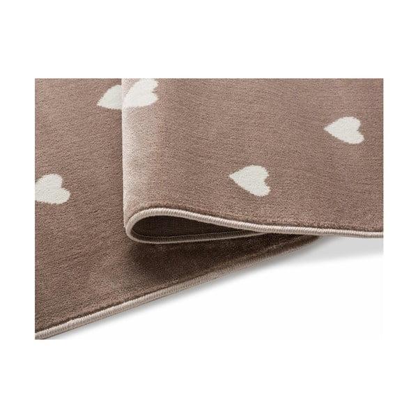 Beige Dots barna, pöttyös szőnyeg, 300 x 400 cm - KICOTI