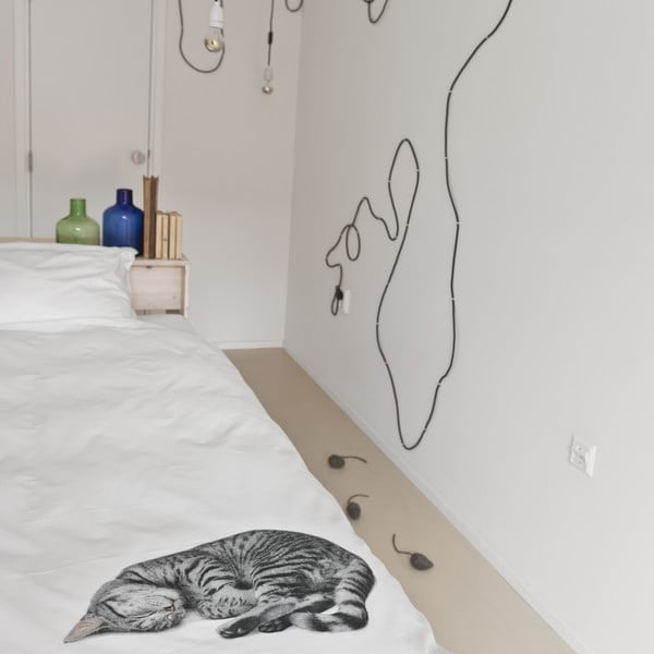 Ollie kétszemélyes pamut ágyneműhuzat garnitúra, 200 x 200 cm - Snurk