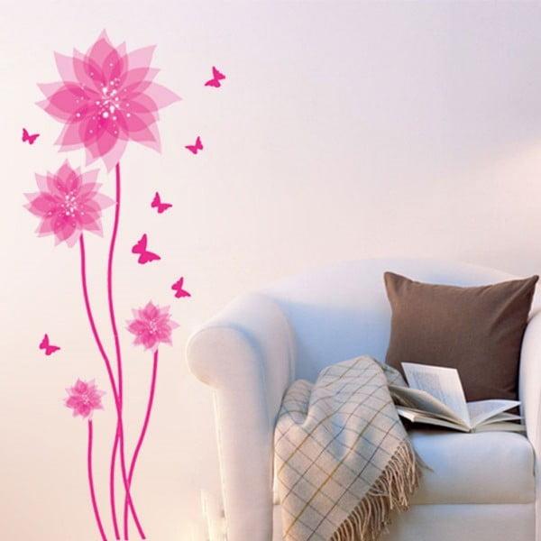 Fanastick Flowers and Butterflies Wall öntapadós matrica - Ambiance