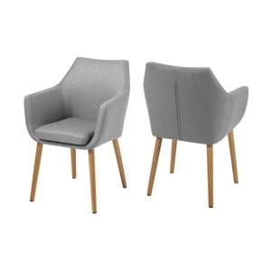 Nora világos szürke fotel - Actona