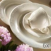Kutahya Elegance 6 részes porcelán csésze és alátét szett, 80 ml