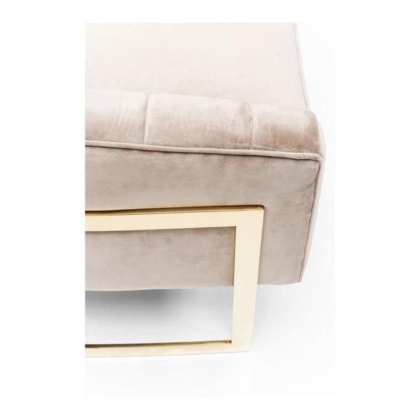 Pure Elegance bézs fotel, aranyszínű elemekkel - Kare Design