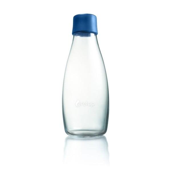 Sötétkék üvegpalack élettartam garanciával, 500 ml - ReTap