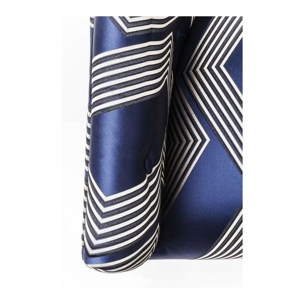 Kimono kék fotel, aranyszínű lábakkal - Kare Design