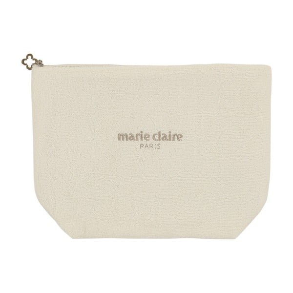 Marie Claire krémszínű kozmetikai táska, hossz 32 cm
