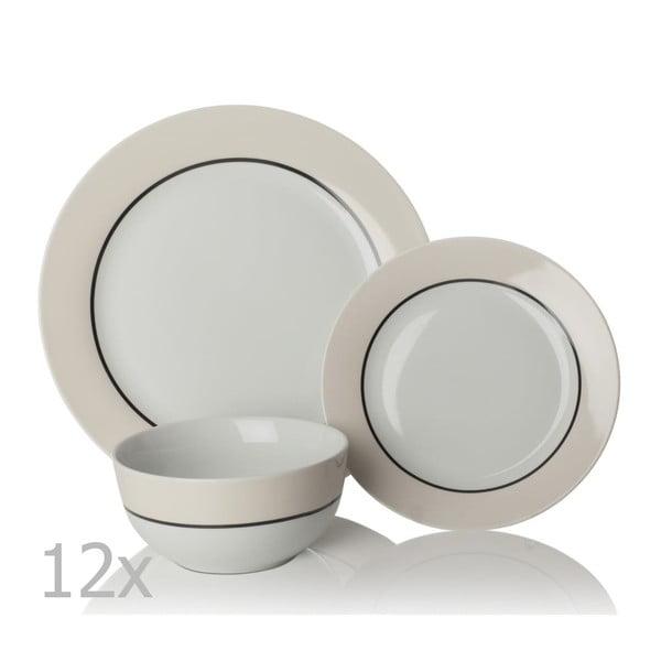 Oslo porcelán étkészlet, 12 db - Sabichi