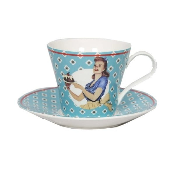 Vintage Bleu csésze és csészealj - Antic Line