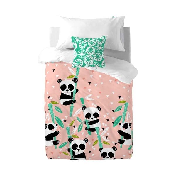 Panda Garden gyerek pamut ágyneműhuzat, 140 x 200 cm - Moshi Moshi