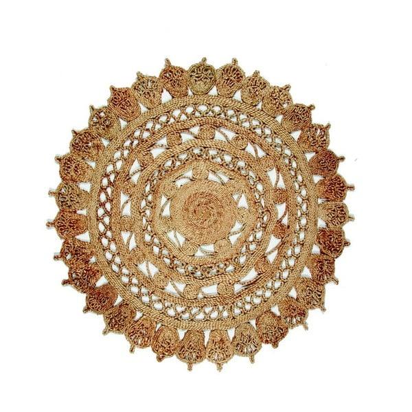 Jamelia kerek jutaszőnyeg, ⌀ 120 cm - Eco Rugs