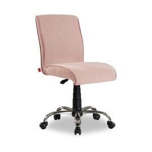 Soft Chair Pink halvány rózsaszín gurulós szék