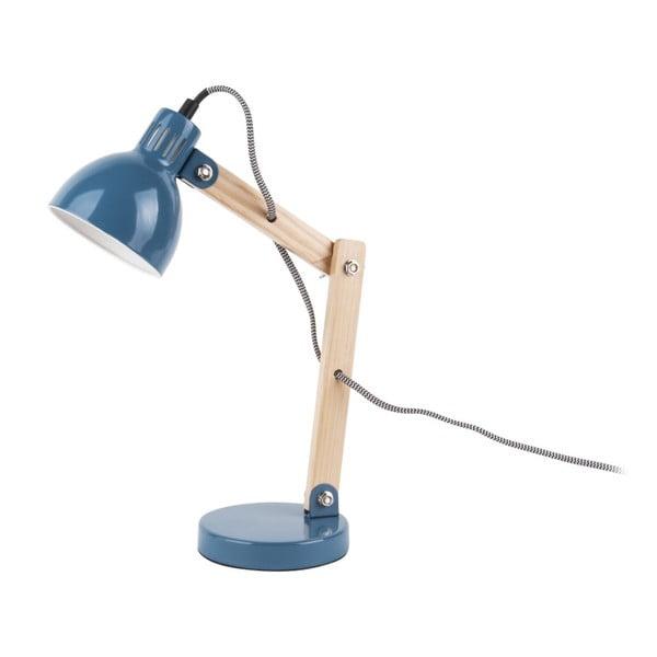 Ogle kék asztali lámpa, fa részletekkel - Leitmotiv