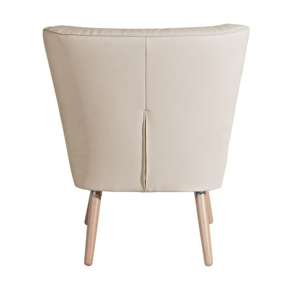 Neele Leather Beige bézs színű fotel - Max Winzer