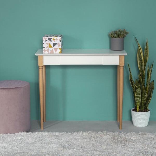 Mamo fehér íróasztal, szélesség 85 cm - Ragaba
