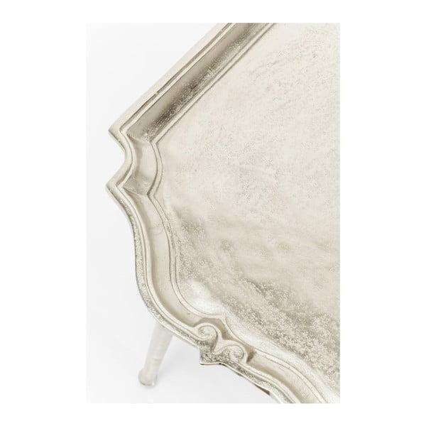 Endris ezüstszínű tárolóasztal - Kare Design