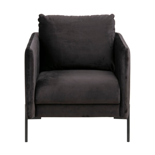 Kingsley antracit-fekete fotel - Actona