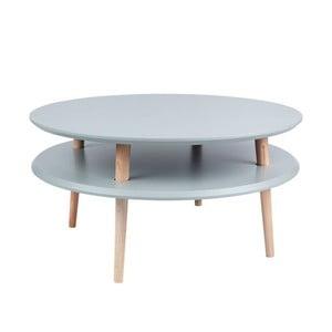 Tmavě šedý konferenční stolek Ragaba UFO,⌀70cm